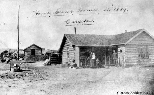 Log cabin that housed the Card family, including Charles Card, Zina Young Card, and Zina Card Brown, located in Cardston, Alberta, Canada, 1889 https://www.historicplaces.ca/en/rep-reg/image-image.aspx?id=5743#i1