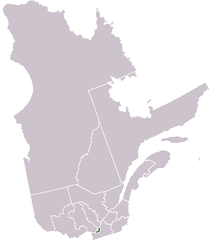 Map location of Montreal, Quebec, Canada