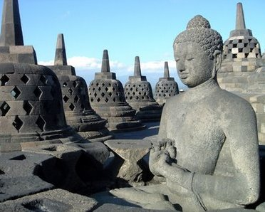 Buddha statue at Borobudur Temple