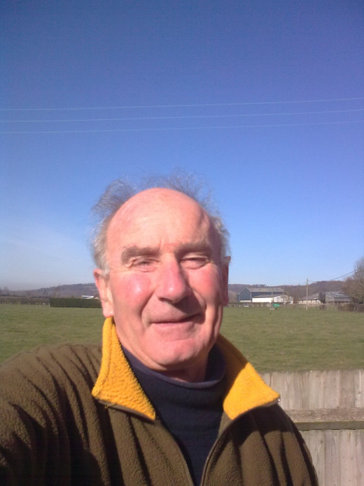 The author on a rare sunny day