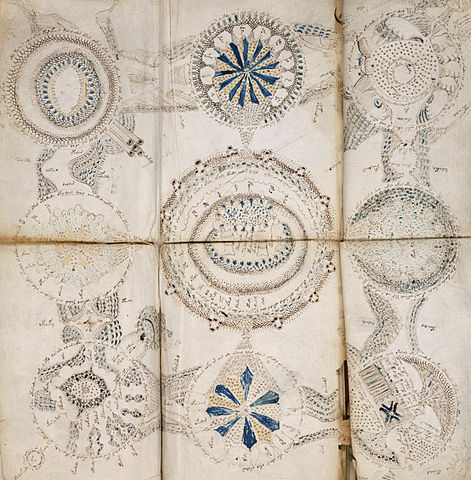Detail from page 86v of Voynich Manuscript
