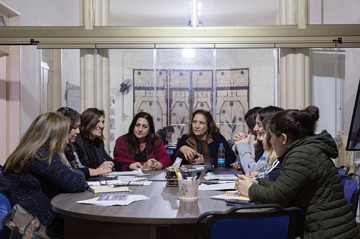 The Lebanese Women's Democratic Gathering (RDFL) is one of the groups spreading awareness about women's rights and helping those living in difficult conditions during the crisis. (Supplied)