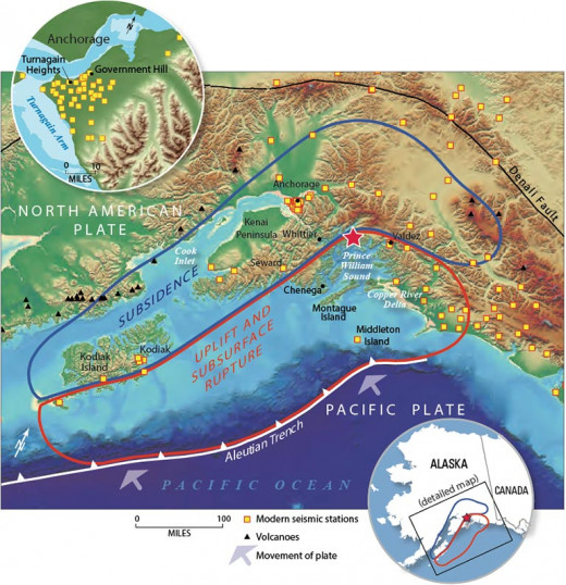 Epicenter of the 1964 Alaska Earthquake