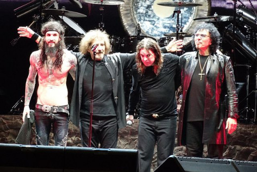 From left to right: Tommy Clufetos, Geezer Butler, Ozzy Osbourne and Tony Iommi