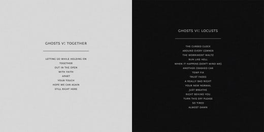 Ghosts V: Together & Ghosts VI: Locusts with its tracklist