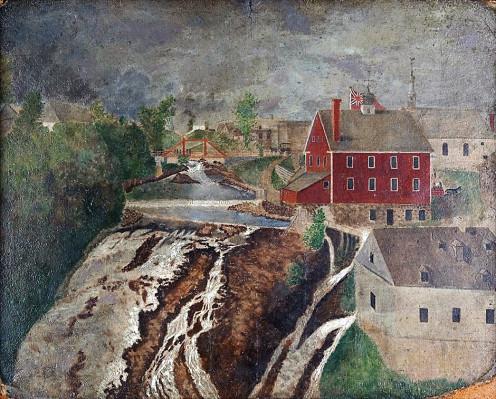 Lorette Falls, oil on cardboard, 48 x 60.6 cm, Musée de la civilisation, Quebec City