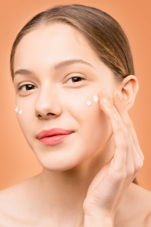 Apply moisturizer to soothe skin.