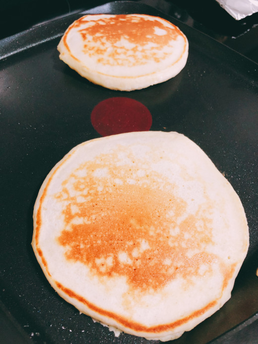 Ghee is so versatile, it can be used in the pancakes as well.