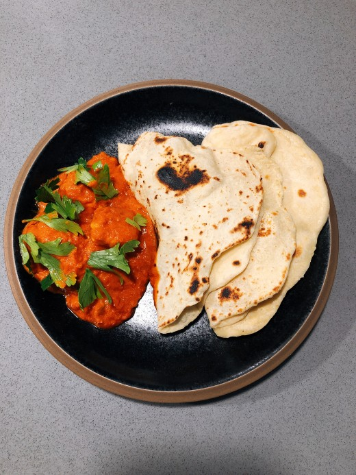 Ghee is mostly used in savory dish, like this delicious home-cooked chicken tikka masala.