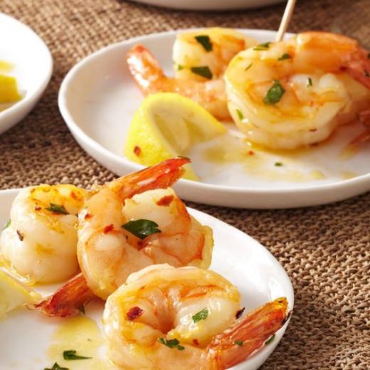 Ingrid Hoffman's brandied shrimp