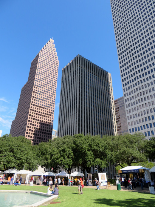 Another view of some downtown buildings from Hermann Square