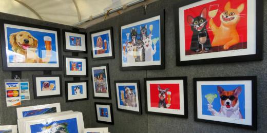 Jimmy Ellis digital art at the Bayou City Art Festival