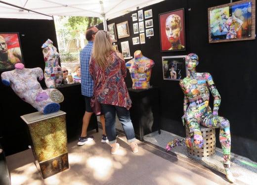 Sheryl McDonald Art at the downtown festival