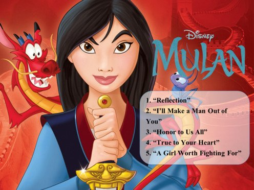 List of Best Songs from Mulan