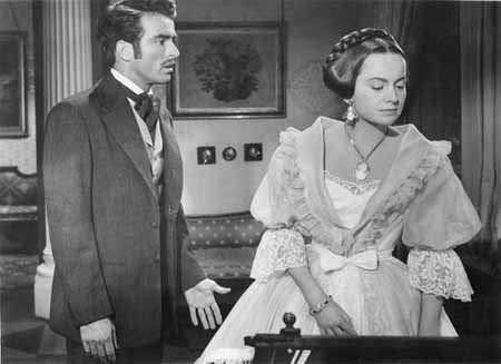 With Montgomery Clift in 'The Heiress'.