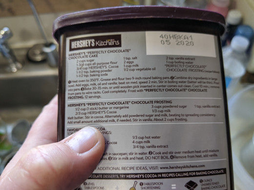 Frosting recipe using powdered cocoa