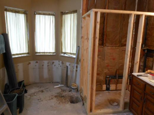 Partial rebuild of Shower
