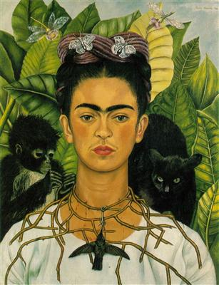 Frida Kahlo self-portrait example
