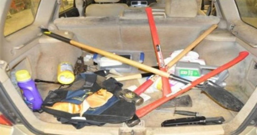 """In the trunk of Neal Falls car police found a """"kill kit"""" used to abduct and murder women."""
