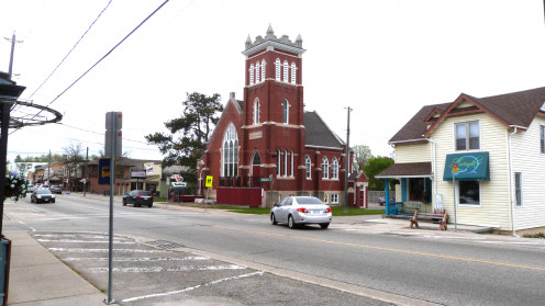 The old evangelical church on Main Street, St Jacobs