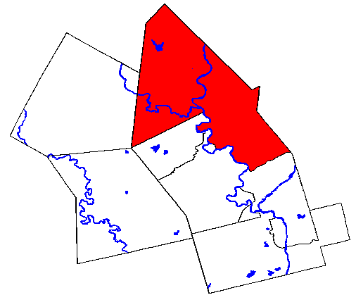 Map location of Woolwich Township within Waterloo Region