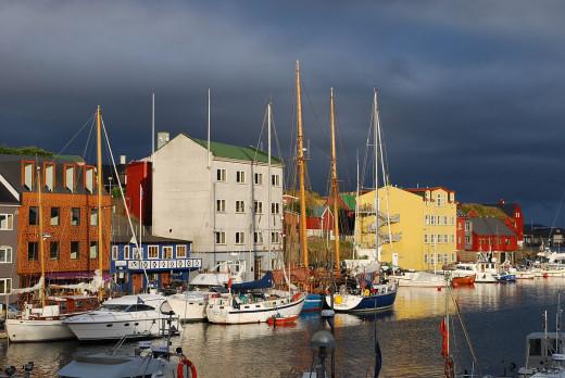 The West Harbor, Tórshavn, capital of the Faroe Islands