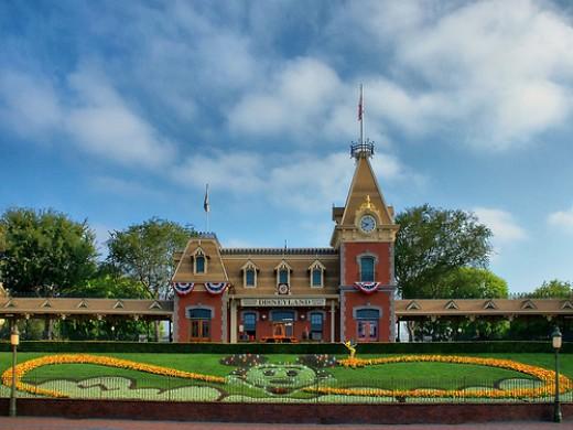 Main Street Station at the entrance to Disneyland