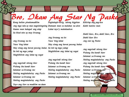 Bro, Ikaw Ang Star Ng Pasko Lyrics