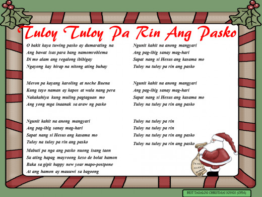 Tuloy Tuloy Pa Rin Ang Pasko Lyrics
