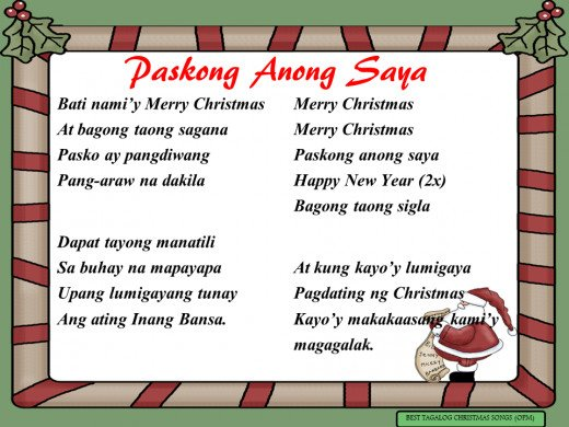 Paskong Anong Saya Lyrics