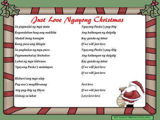 Just Love Ngayong Christmas Lyrics