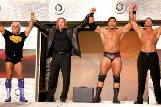 7. Evolution – 'Line in the Sand' – A team that revolutionized the Ruthless Aggression Era