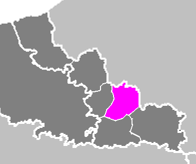 Map location of Valenciennes 'arrondissement' Source: 'User:Michiel1972', public domain, wikimedia.org