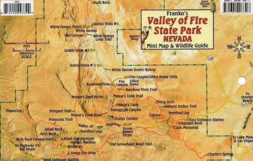 Map of Valley-of-Fire