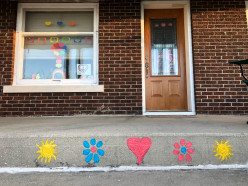 Easy Puffy Sidewalk Paint