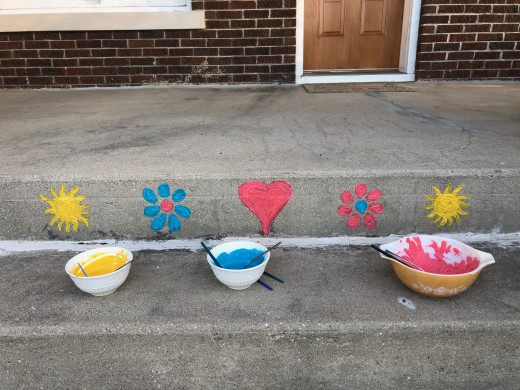 adding color to the porch
