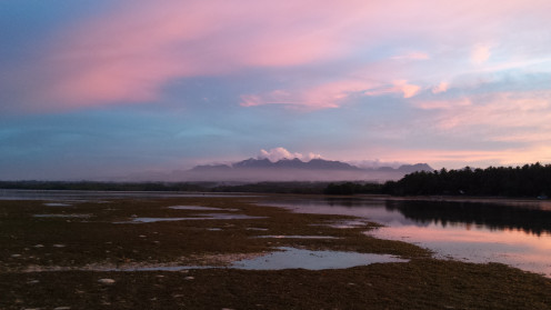 A distant view of the Mt. Malindang Range in Misamis Occidental, MIndanao, Philippines