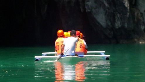 At the mouth of the Underground River, Puerto Princesa City