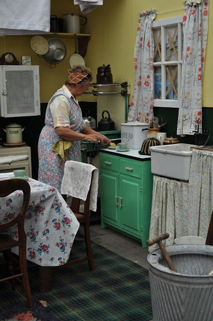 scullery 1940s kitchen