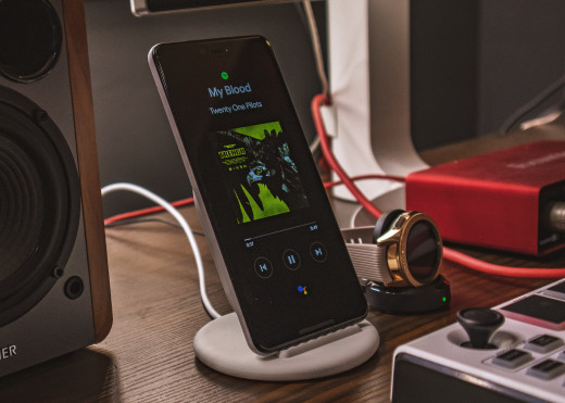 A wireless charging stand