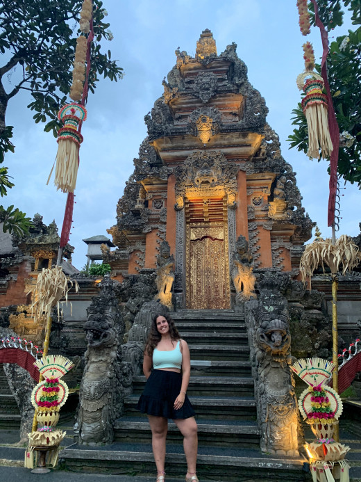 An untouched image of me in Bali