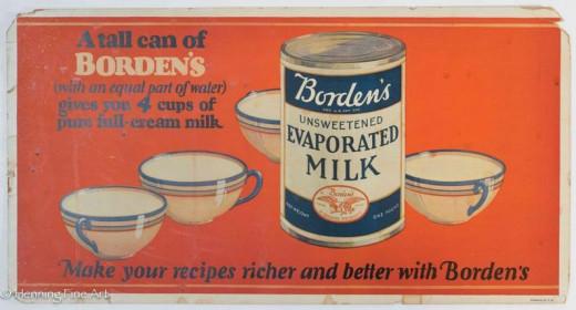 Borden's Milk Tin Sign