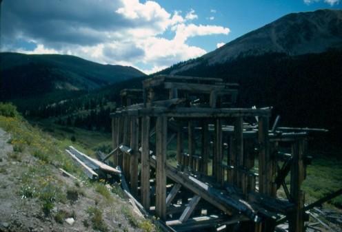 Abandoned mine shaft along Independence Pass.