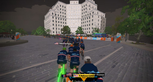 Drafting during Zwift Racing will help to save vital energy