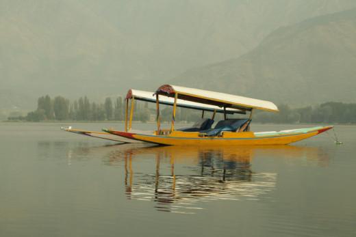 Shikara at Srinagar, Kashmir