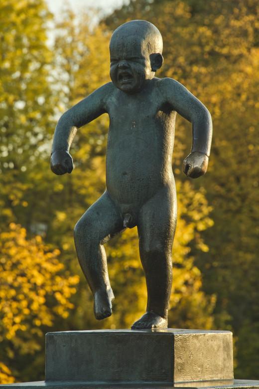 Sculpture in Oslo, Norway by Gustav Vigeland.
