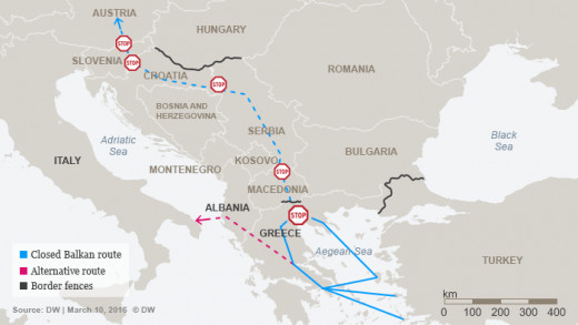 The Balkan Route for some Refugees, DW