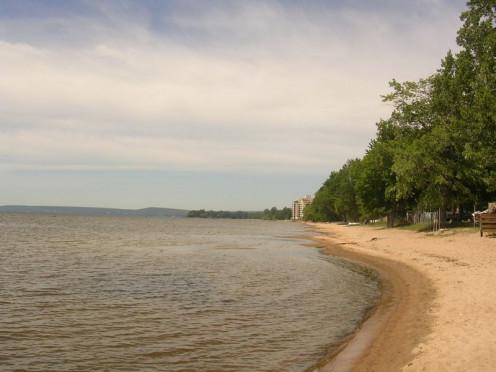 A beach on Lake Nipissing in West Ferris, a neighbourhood of North Bay.