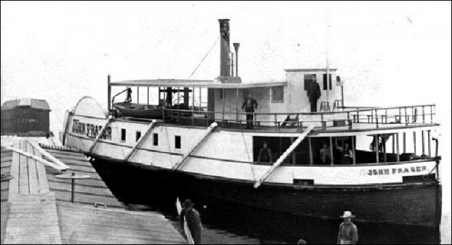 The John B. Fraser, a 102 foot steamboat was built in 1888 at Nipissing, Ontario.