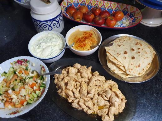 An array of Greek cuisine